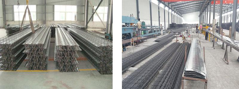 钢筋桁架楼承板由上弦钢筋、下弦钢筋、腹杆钢筋、底模、支座钢筋构成